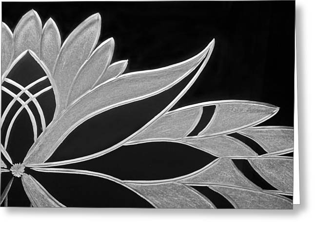 Elegant Glass Art Greeting Cards - Flower of Victoria Greeting Card by Robert Zeman
