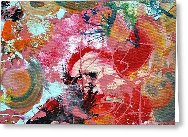 Wet Paint Greeting Cards - Fluid Acrylic paint Greeting Card by Sumit Mehndiratta