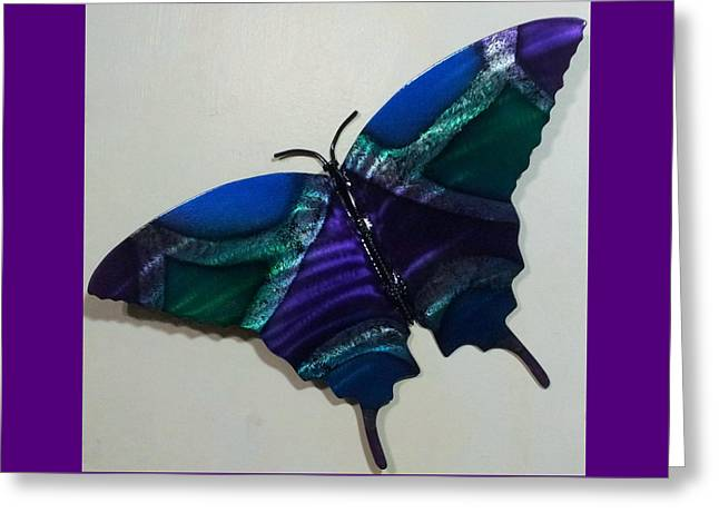 Color Green Reliefs Greeting Cards - Fly Away Butterfly Greeting Card by The  Torchcutters