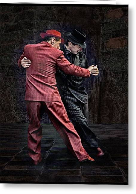 Digital Photography Greeting Cards - For Men Only - Tango Series Greeting Card by Raul Villalba