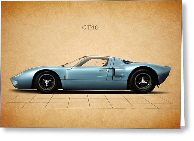 Ford Photographs Greeting Cards - Ford GT40 Greeting Card by Mark Rogan
