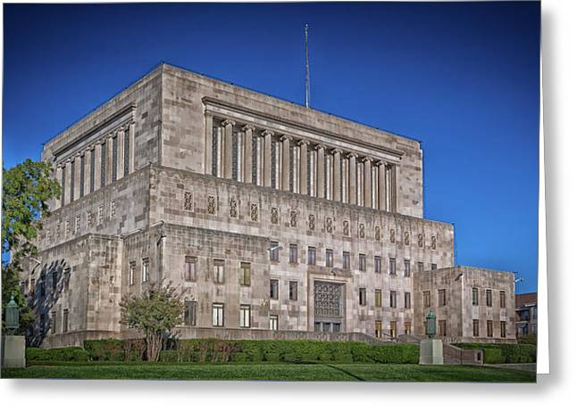 Fort Worth Masonic Temple Greeting Card by Mountain Dreams
