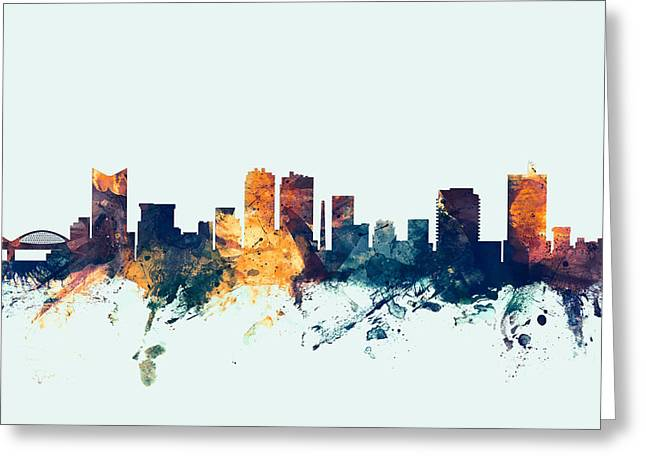 Fort Worth Texas Skyline Greeting Card by Michael Tompsett