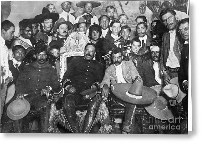 Mexican Revolution Greeting Cards - Francisco Pancho Villa Greeting Card by Granger