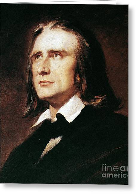 Pianist Photographs Greeting Cards - Franz Liszt (1811-1886) Greeting Card by Granger