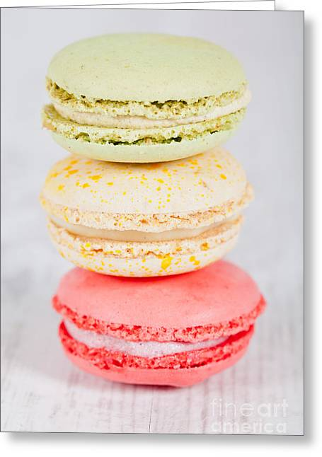 Specialty Greeting Cards - French macarons Greeting Card by Sabino Parente
