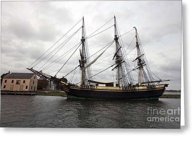 Sailing Ship Greeting Cards - Friendship of Salem Greeting Card by Jason O Watson