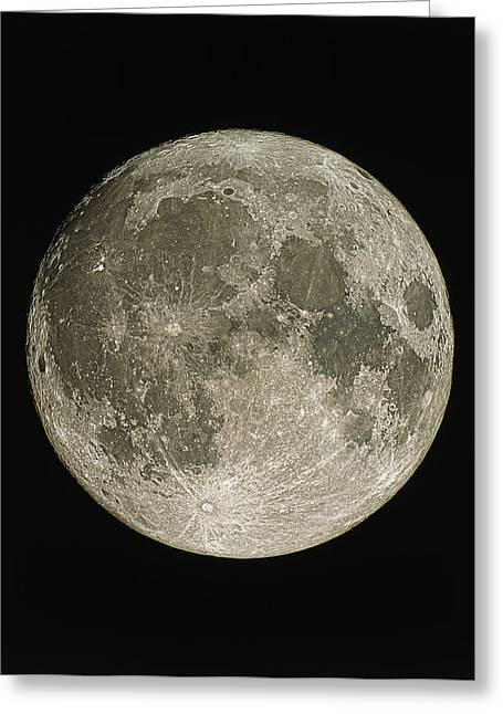 Lunar Greeting Cards - Full Moon Greeting Card by Eckhard Slawik