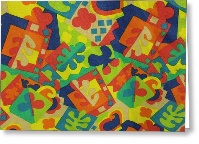 Anna Villarreal Garbis Greeting Cards - Funky Fabric Greeting Card by Anna Villarreal Garbis