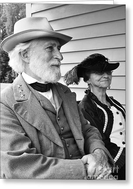 Custis Greeting Cards - General Lee and Mary Custis Lee Greeting Card by Thomas R Fletcher