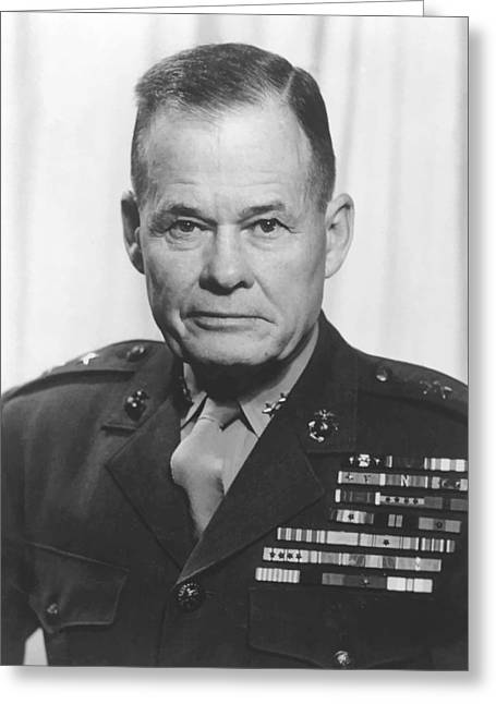 Products Greeting Cards - General Lewis Chesty Puller Greeting Card by War Is Hell Store