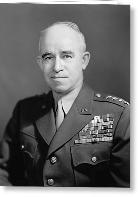 General Bradley Greeting Cards - General Omar Bradley  Greeting Card by War Is Hell Store