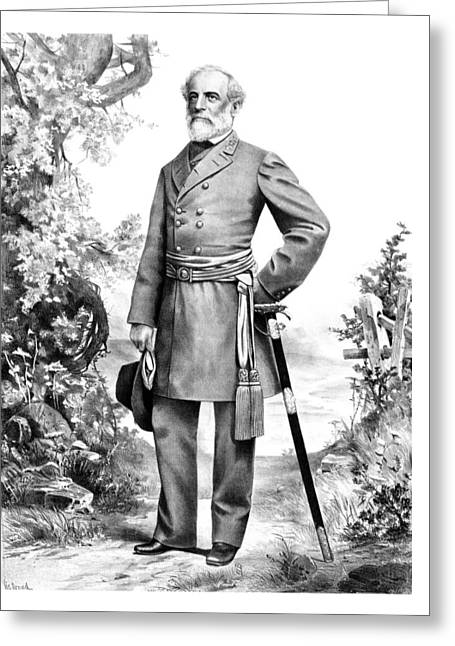 Military Generals Greeting Cards - General Robert E Lee Greeting Card by War Is Hell Store