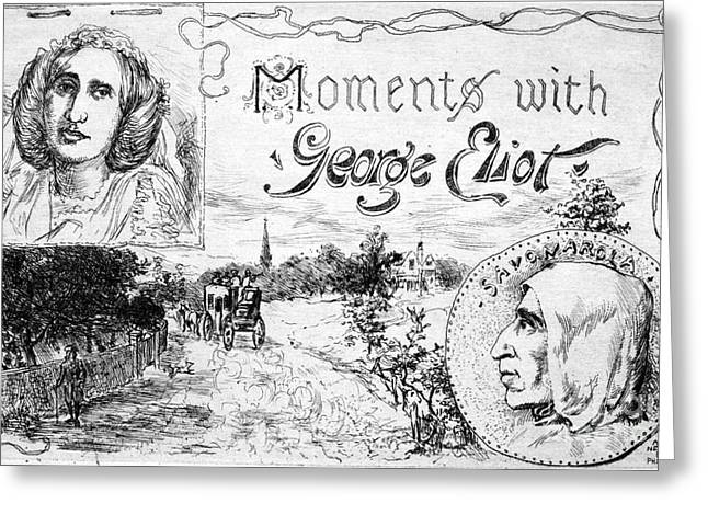 Book Title Photographs Greeting Cards - George Eliot (1819-1880) Greeting Card by Granger