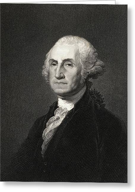First Black President Greeting Cards - George Washington 1732-1799. First Greeting Card by Ken Welsh