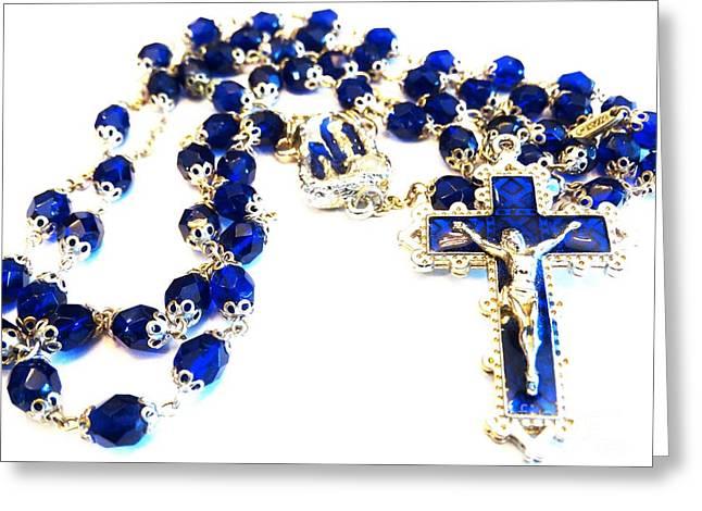 Pray The Rosary Greeting Card by Gina Sullivan
