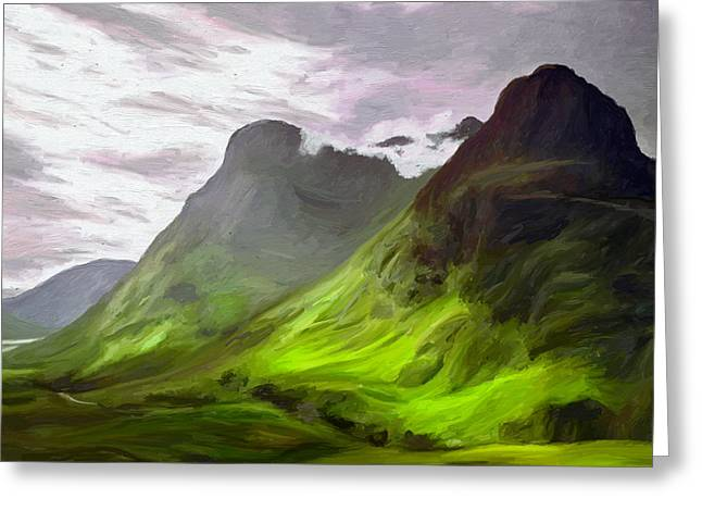Mountain Valley Greeting Cards - Glen Coe Greeting Card by James Shepherd
