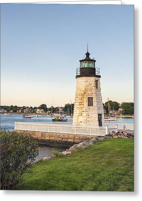 New England Ocean Greeting Cards - Goat Island Lighthouse  Greeting Card by Marianne Campolongo