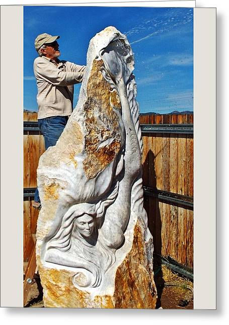 Goddess Sculptures Greeting Cards - Goddess of the Seas Greeting Card by Ken DeRosier