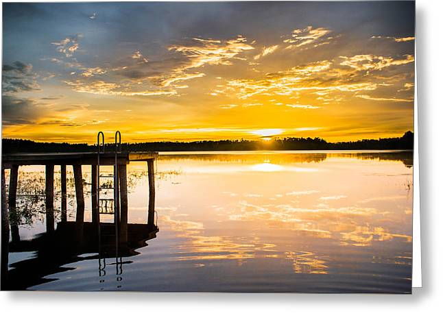 Gainesville Greeting Cards - Golden Sunset Greeting Card by Parker Cunningham
