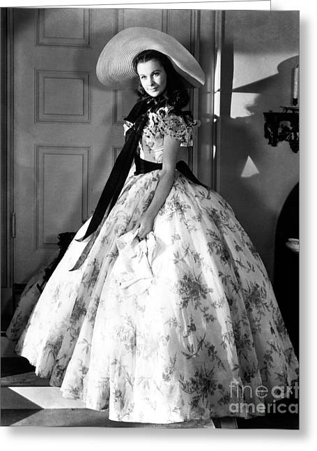 Portrait With Dress Greeting Cards - Gone With The Wind, 1939 Greeting Card by Granger