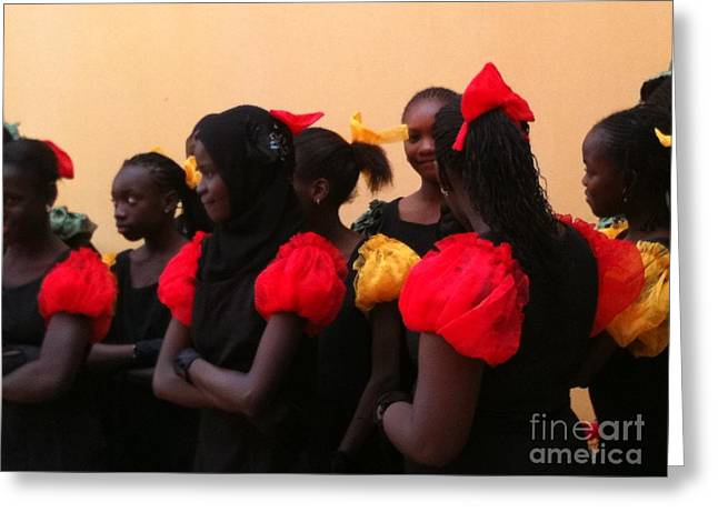 Goree Girls Greeting Card by Fania Simon