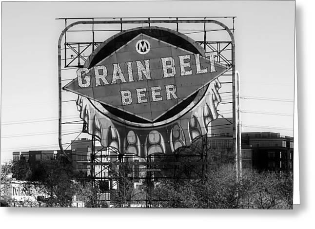 Bottle Cap Greeting Cards - Grain Belt Beer Greeting Card by Mountain Dreams