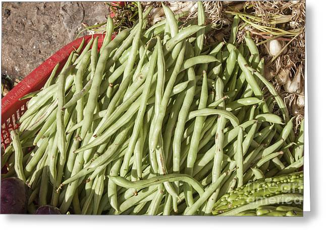 Green Beans Greeting Cards - Green beans Greeting Card by Daniel Ronneberg