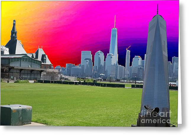 Jihad Mixed Media Greeting Cards - GROUND  ZERO FREEDOM TOWER formerly World Trade  Centre WTC New York photo taken on July 4 2015 USA  Greeting Card by Navin Joshi