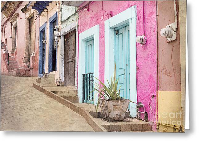 Colonial Architecture Greeting Cards - Guanajuato Mexico Greeting Card by Juli Scalzi