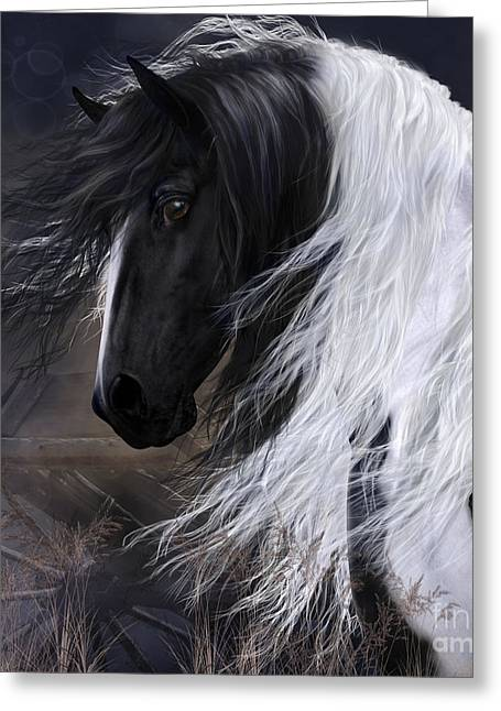 Tinkered Mixed Media Greeting Cards - Gypsy Vanner Greeting Card by Shanina Conway