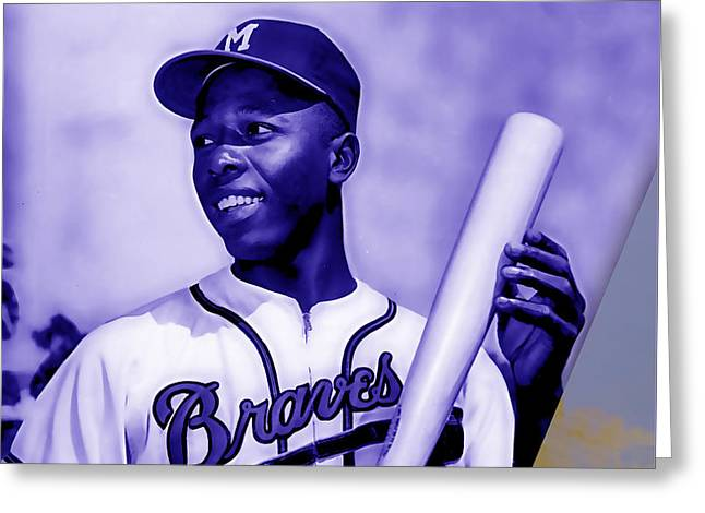 Hank Aaron Collection Greeting Card by Marvin Blaine