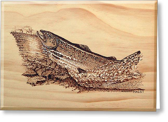 Streams Pyrography Greeting Cards - Heading Home Greeting Card by Ron Haist