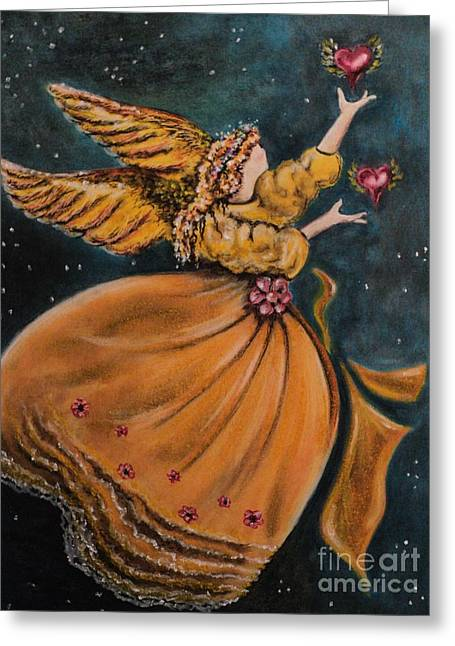 Heavens Pastels Greeting Cards - 2 Hearts Greeting Card by Carla Carson