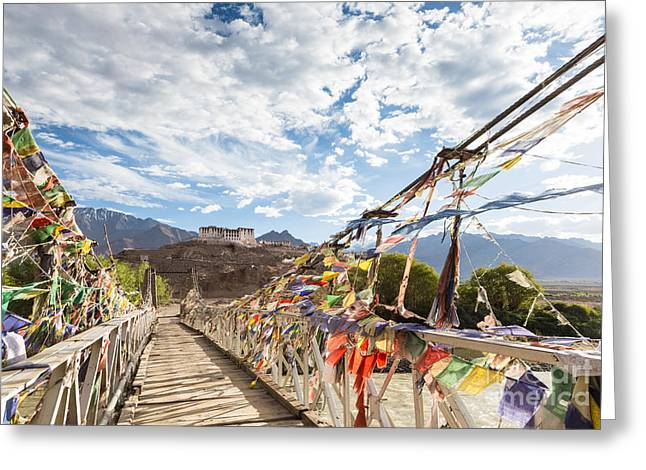 Tibetan Buddhism Greeting Cards - Hemis monastery in Ladakh in India Greeting Card by Didier Marti