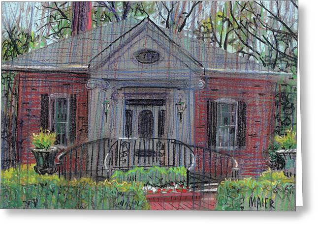 Gardens Pastels Greeting Cards - Hiram Butler House Greeting Card by Donald Maier