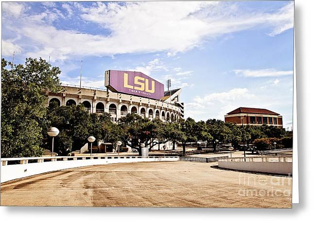 Lsu Campus Greeting Cards - Home Field Advantage Greeting Card by Scott Pellegrin