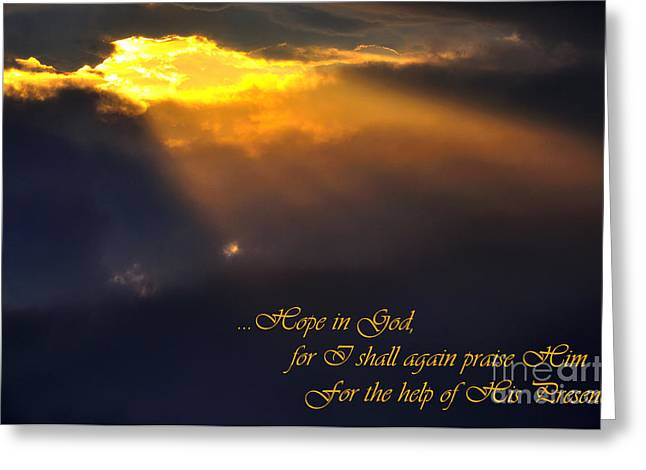 Allegheny Greeting Cards - Hope in God Greeting Card by Thomas R Fletcher