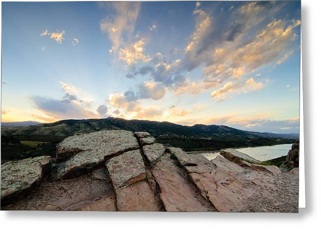Horsetooth Reservoir, Fort Collins, Colorado Greeting Card by Preston Broadfoot