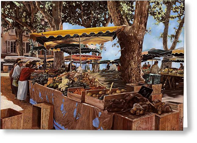People Greeting Cards - il mercato di St Paul Greeting Card by Guido Borelli