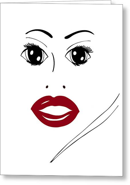 Pretty Woman Greeting Cards - Illustration of a woman in fashion Greeting Card by Frank Tschakert