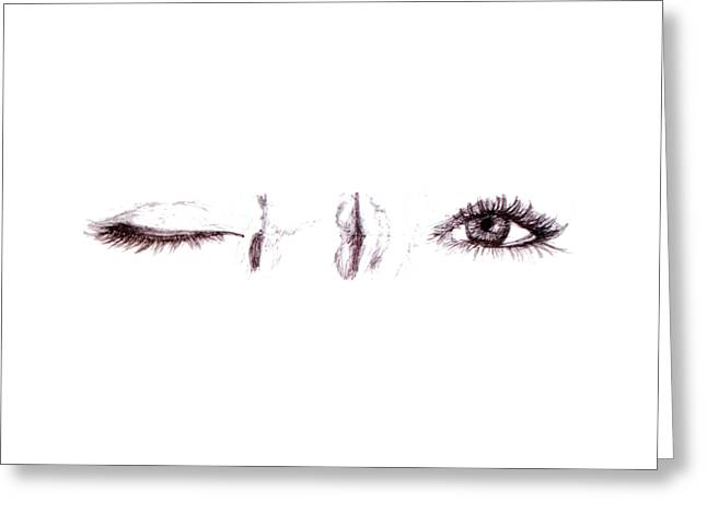 In The Blink Of An Eye - Clothing/apparel - Accessories  Greeting Card by Ingrid Van Amsterdam