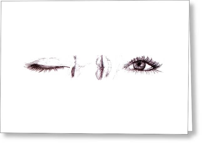 Apparel Greeting Cards - In The Blink Of An Eye - Clothing Greeting Card by Ingrid Van Amsterdam