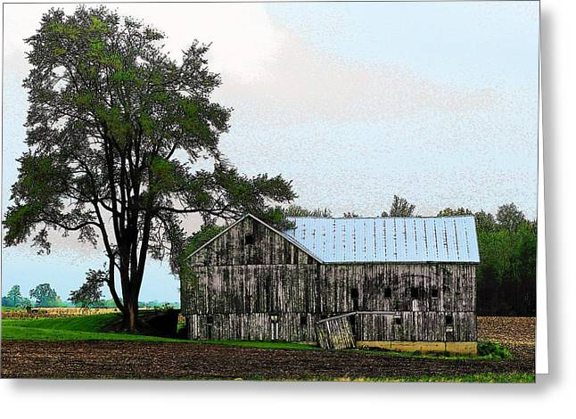 Indiana Barn Greeting Card by Joyce Kimble Smith