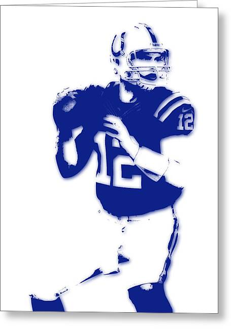 Colts Greeting Cards - Indianapolis Colts Andrew Luck Greeting Card by Joe Hamilton