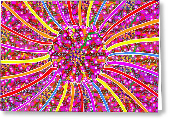 Fineartamerica Greeting Cards - Infinity Star Flower an abstract fineart expression by NavinJoshi at FineArtAmerica.com Colorful spe Greeting Card by Navin Joshi