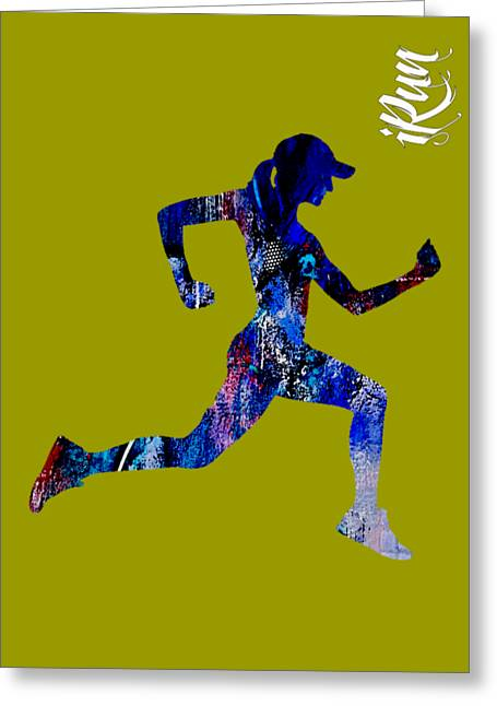 Fitness Greeting Cards - iRun Fitness Collection Greeting Card by Marvin Blaine
