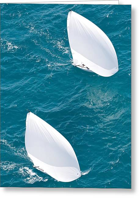 J70 Aerial Greeting Card by Steven Lapkin