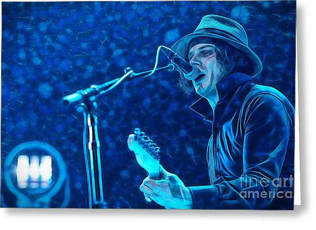 Pop Mixed Media Greeting Cards - Jack White Collection Greeting Card by Marvin Blaine