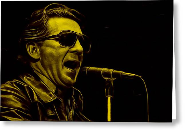 Pop Singer Greeting Cards - Jerry Lee Lewis Collection Greeting Card by Marvin Blaine